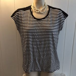 MICHAEL KORS Striped Shirt NWT Medium